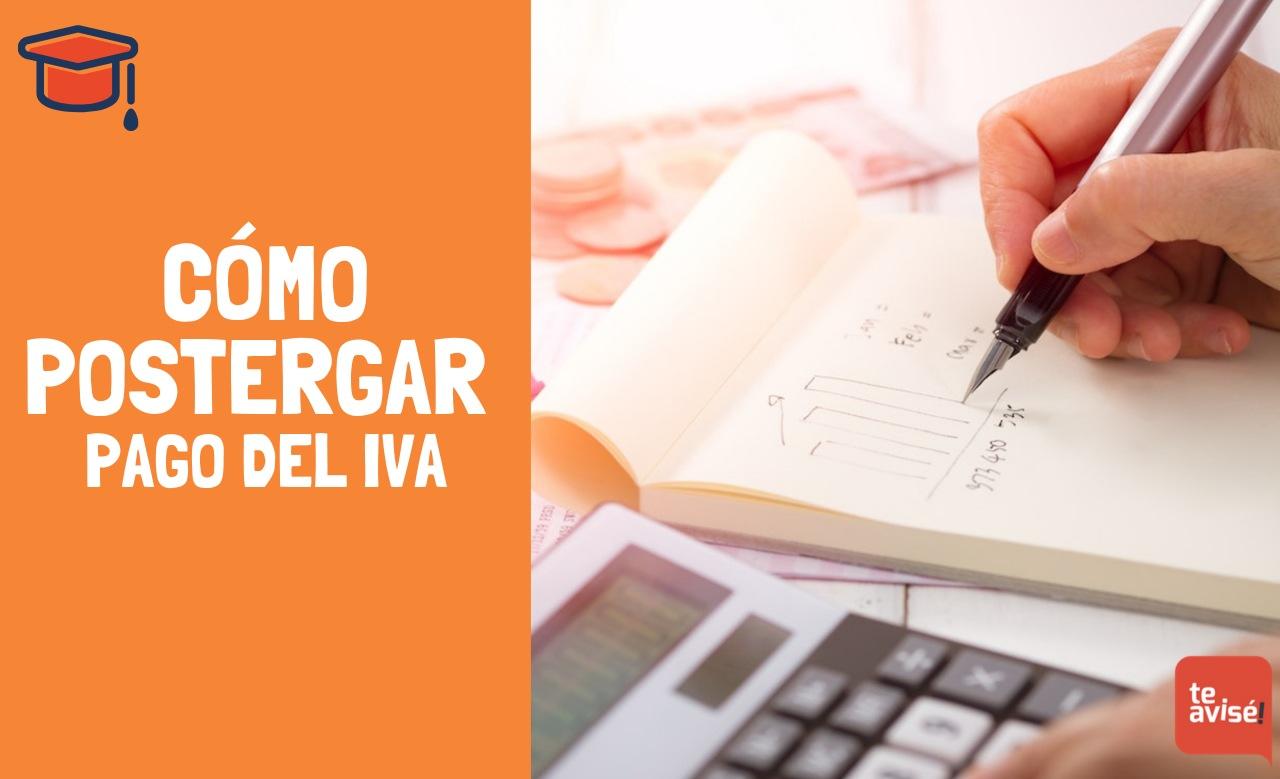 Cómo postergar pago del IVA